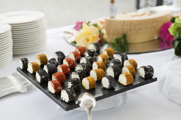 チーズ ビュッフェ 表 パーティ オレンジ ストックフォト © limpido