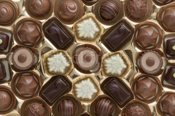 şekerleme altın kutu paketleme çikolata tatil Stok fotoğraf © limpido
