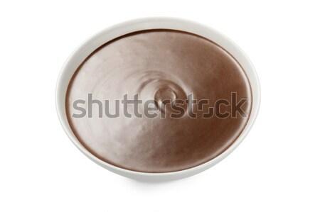 Sıcak çikolata fincan sıcak çikolata beyaz Stok fotoğraf © limpido