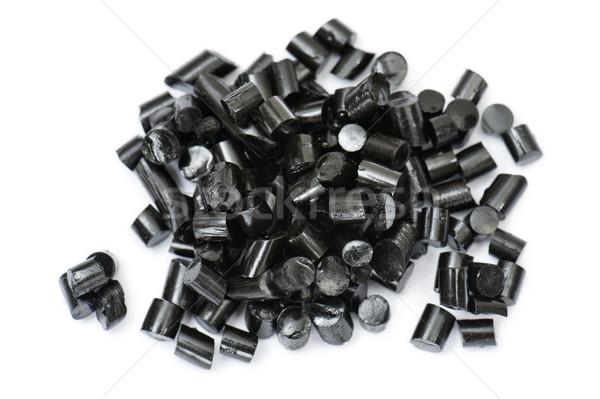 Liquirizia nero pezzi candy bianco legno Foto d'archivio © limpido