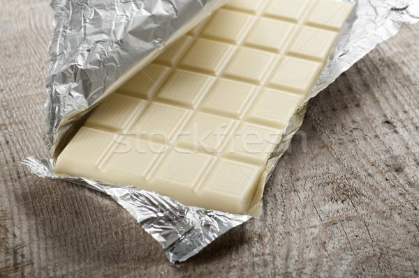 белый шоколадом алюминий таблице Сток-фото © limpido