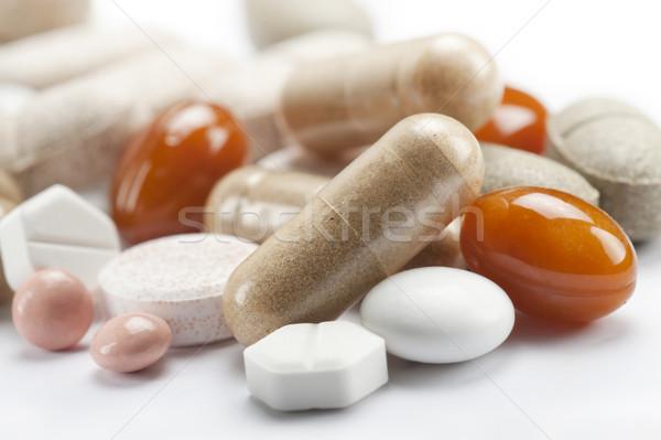 Hapları beyaz sağlık arka plan Stok fotoğraf © limpido