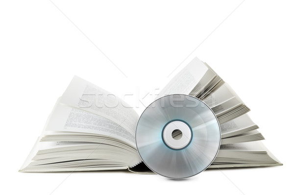 compact disk with book Stock photo © limpido