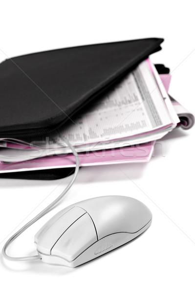 Klasör belgeler fare dikey görüntü iş Stok fotoğraf © limpido