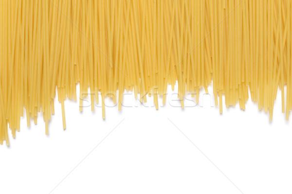 Сток-фото: пасты · спагетти · белый · фон · свежие · макроса