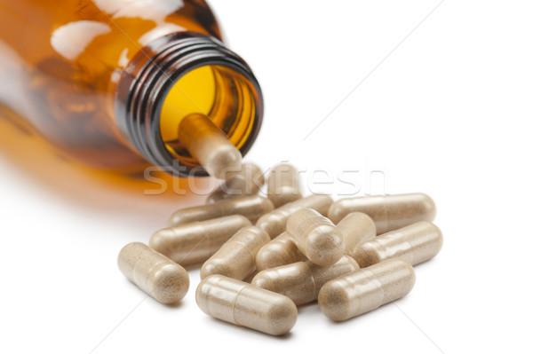 Vitamin şişe beyaz sağlık hasta Stok fotoğraf © limpido