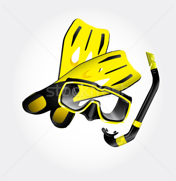 Fins, scuba mask and snorkel Stock photo © lindwa