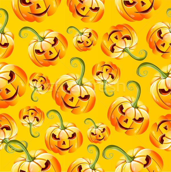 Végtelenített halloween minta virág buli absztrakt Stock fotó © lindwa