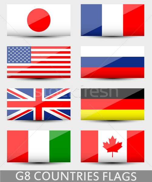 G8 countries flags Stock photo © lindwa