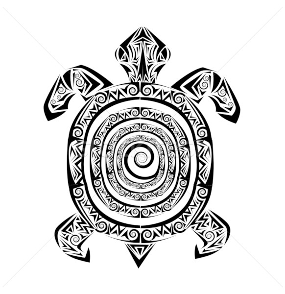 turtle tattoo Stock photo © lindwa