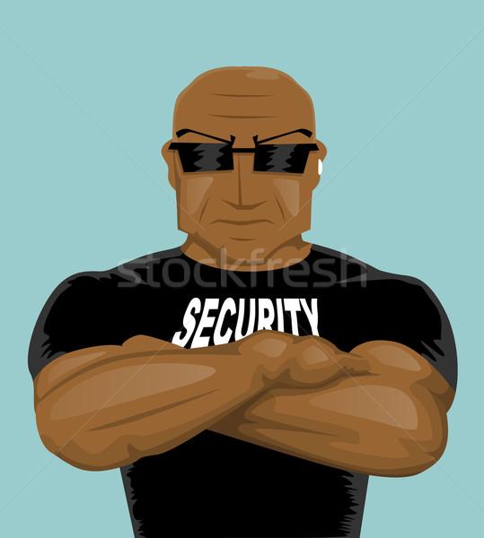 Sécurité homme hommes muscle pouvoir vêtements Photo stock © lindwa