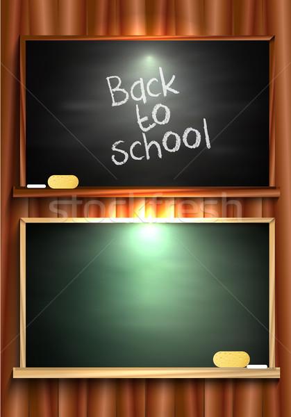 Tableau noir fond cadre éducation classe Photo stock © lindwa