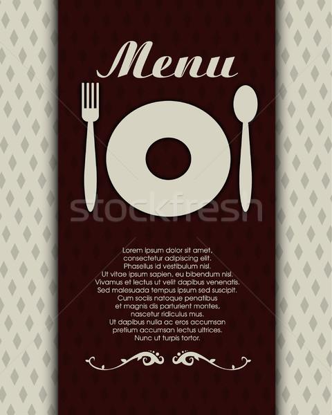 Restaurant menu papier alimentaire cadre chef Photo stock © lindwa