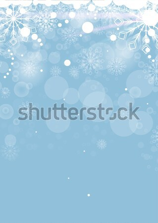 Christmas card with white snowflakes Stock photo © lindwa