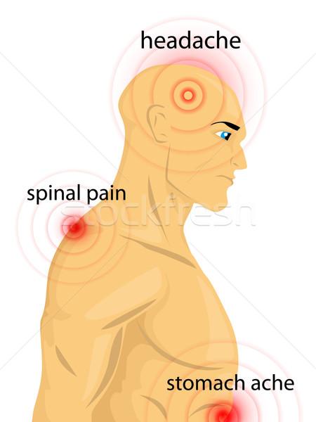 人間 ボディ 痛み 健康 フィート 戻る ストックフォト © lindwa