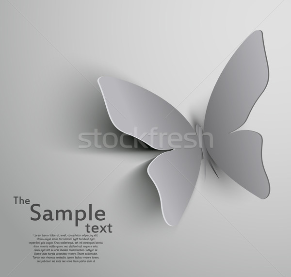Papier découpé papillon heureux résumé design fond Photo stock © lindwa