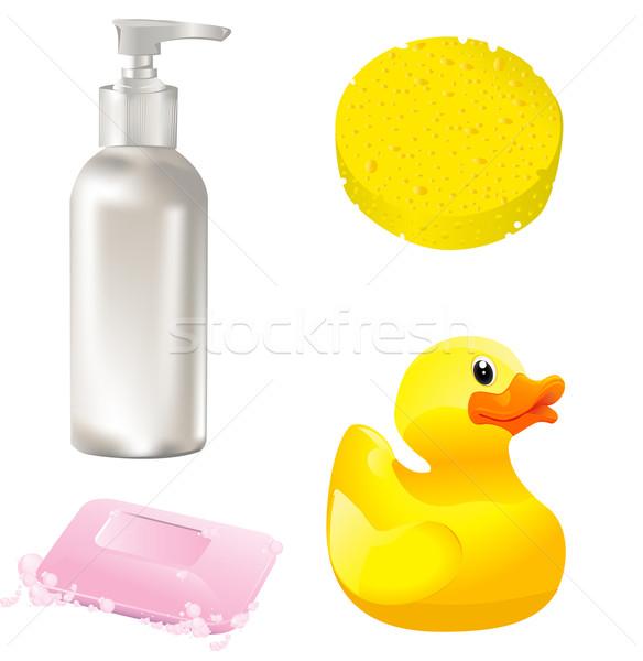 Salle de bain équipement maison art outils Photo stock © lindwa