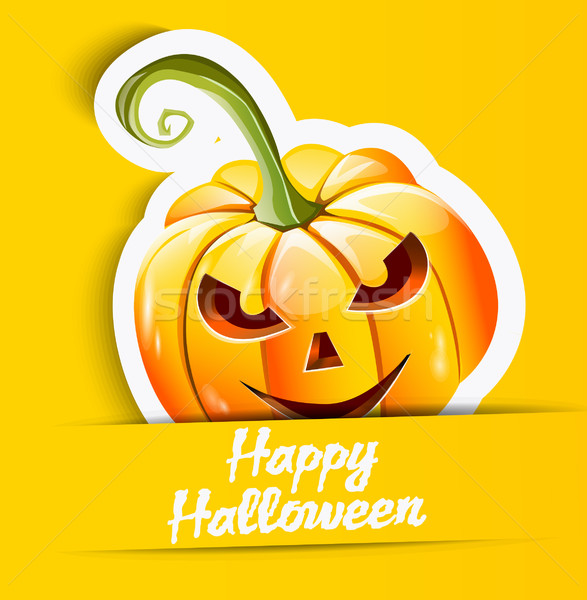 Halloween pumpkin sticker Stock photo © lindwa