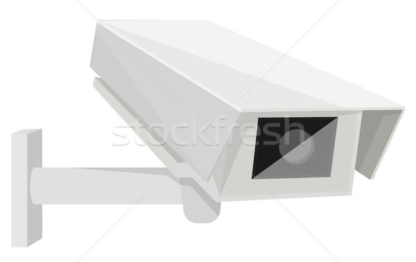 Cctv kamera épület biztonság monitor videó Stock fotó © lindwa