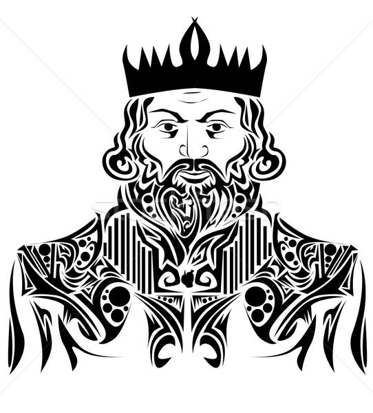 Abstrato rei assinar tatuagem luxo medieval Foto stock © lindwa