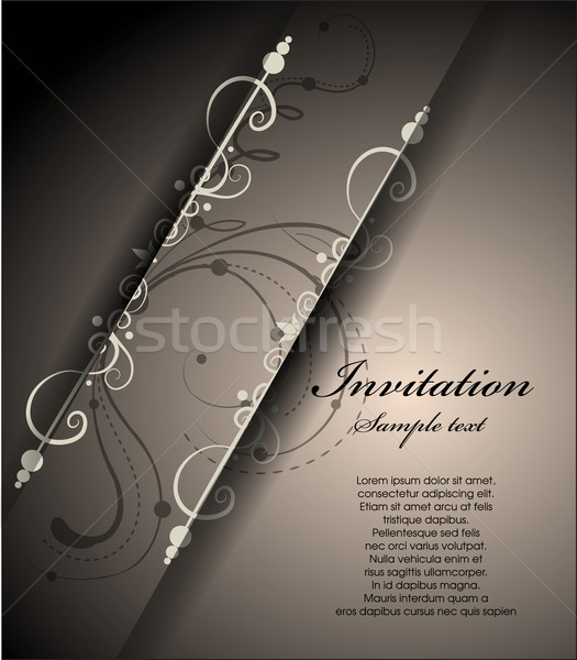 Convite abstrato floral páscoa papel textura Foto stock © lindwa