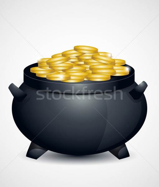 St Patricks Day pot of gold Stock photo © lindwa