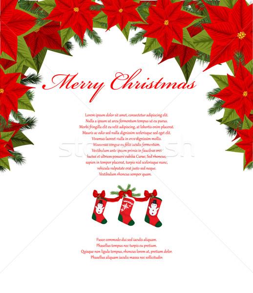 Noël heureux fond art espace couleur Photo stock © lindwa