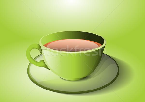 Kubek herbaty wody charakter kuchnia Zdjęcia stock © lindwa
