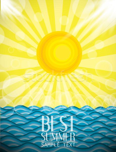 Yaz plaj gökyüzü deniz dizayn duvar kağıdı Stok fotoğraf © lindwa