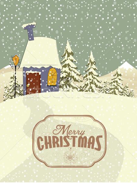 Vector Christmas background Stock photo © lindwa