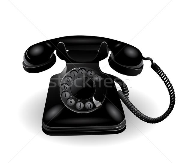 Retro Telephone Stock photo © lindwa