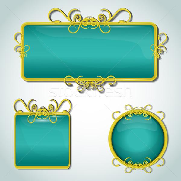 Décoratif étiquettes mariage mode design art Photo stock © lindwa