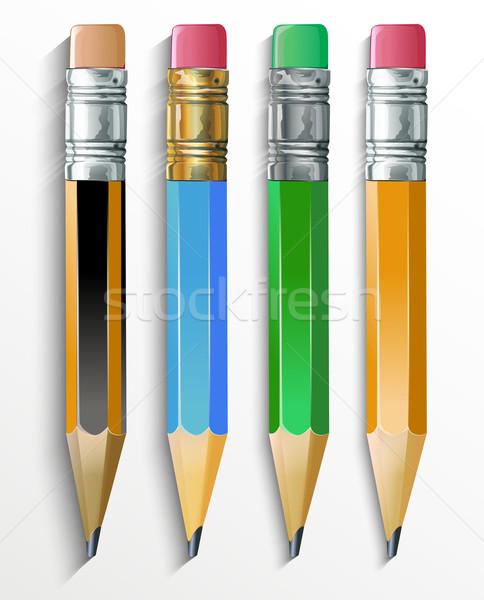 Crayons design crayon signe portable écrire Photo stock © lindwa