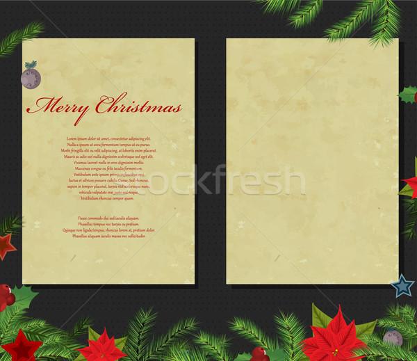 Karácsony kártyák férfi csillagok éjszaka szín Stock fotó © lindwa