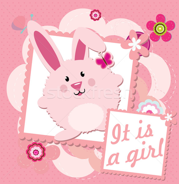 It's a girl greeting card Stock photo © lindwa