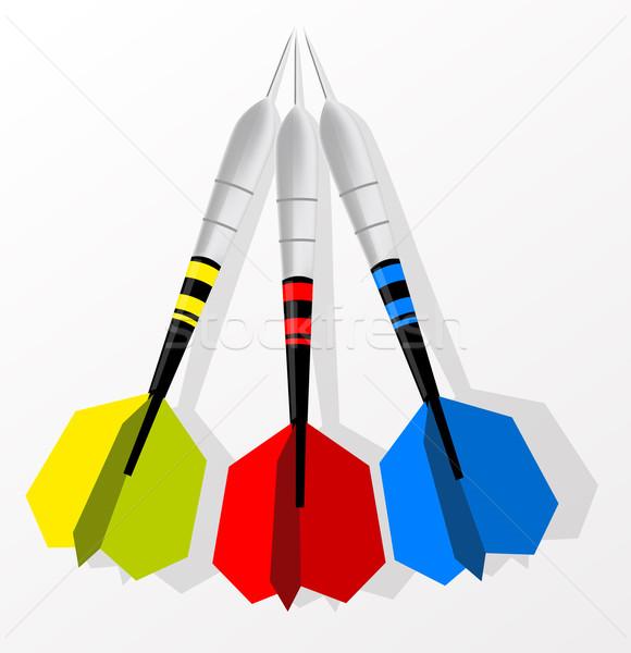 Fléchettes sport couleur cible flèche Photo stock © lindwa