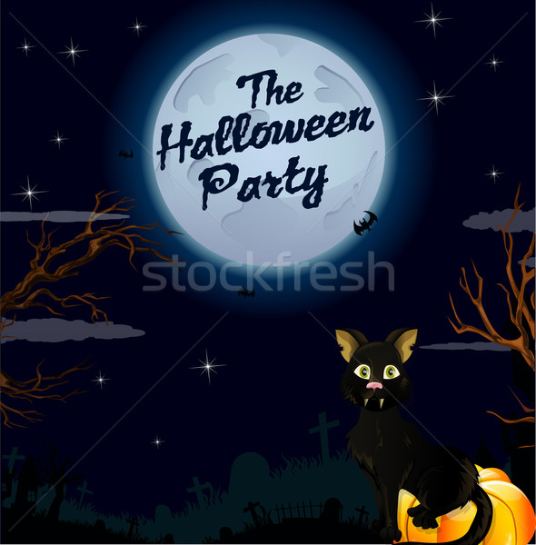 Halloween party background Stock photo © lindwa