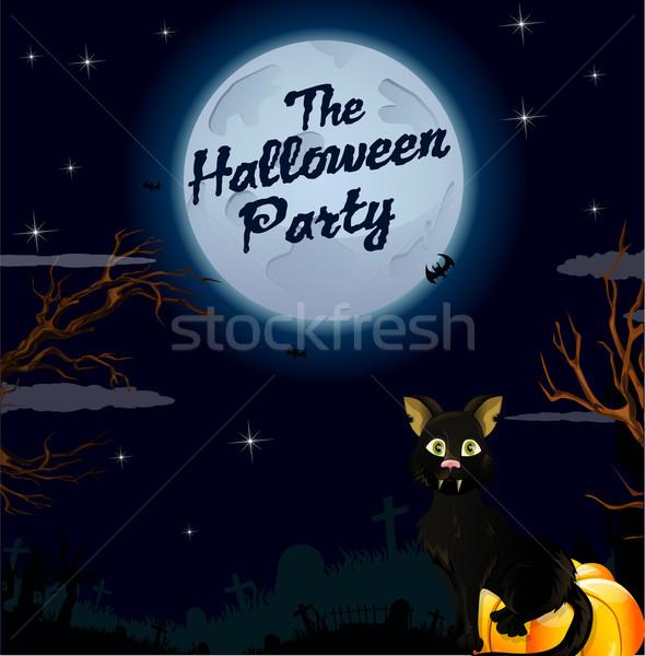 Halloween Party Hintergrund Plakat Entsetzen Feier Stock foto © lindwa