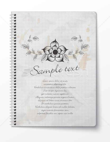 Vector booklet with floral design Stock photo © lindwa