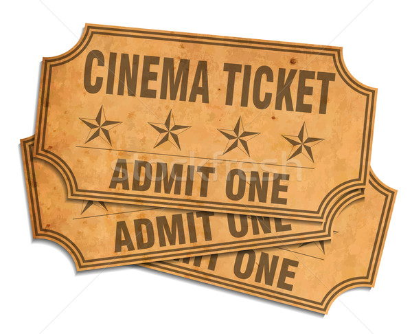 Retro cinema tickets Stock photo © lindwa