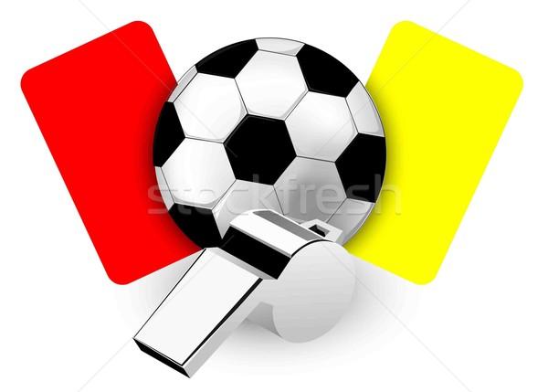 árbitro assobiar cartões papel esportes futebol Foto stock © lindwa