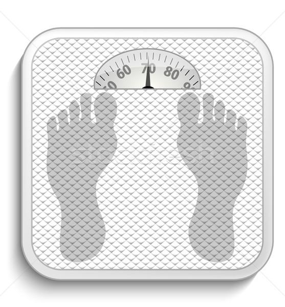 Bathroom scale Stock photo © lindwa