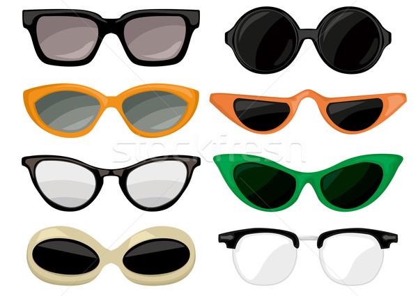 óculos de sol vintage conjunto olho sol verão Foto stock © lindwa