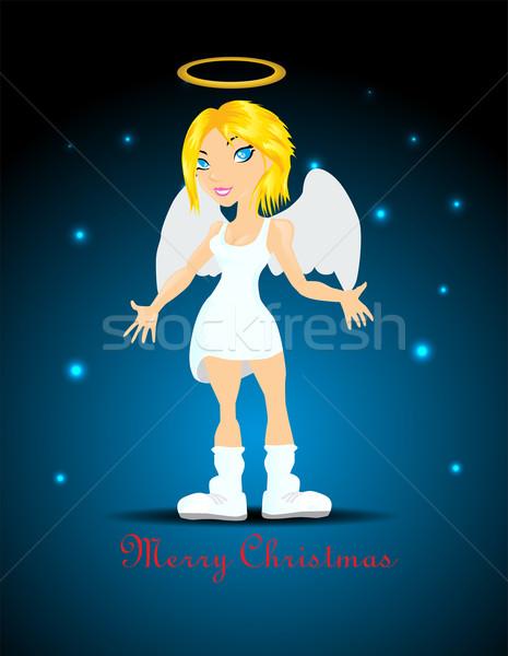 Güzel melek kız kadın sevmek güzellik Stok fotoğraf © lindwa