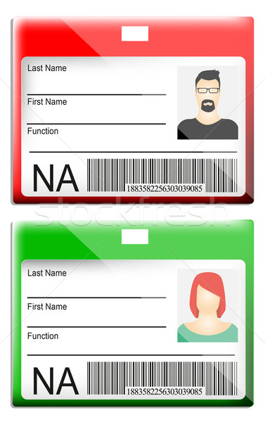 ID Card Stock photo © lindwa