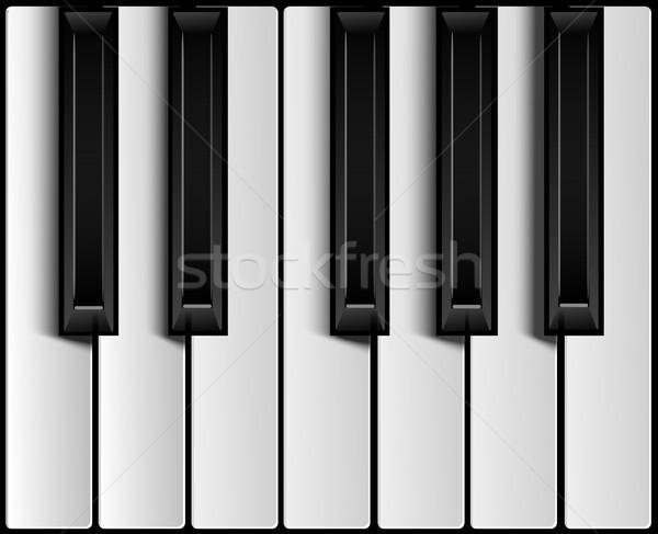 Pianotoetsen ontwerp achtergrond kunst onderwijs piano Stockfoto © lindwa