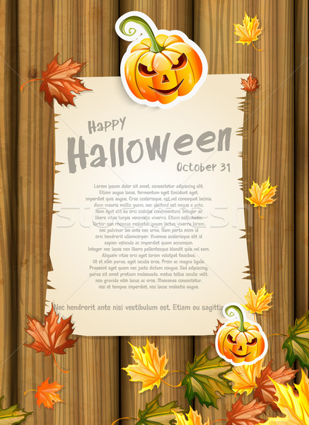 Halloween Hintergrund Plakat Entsetzen Feier bat Stock foto © lindwa