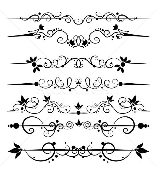 Ingesteld ontwerp communie boek frame kunst Stockfoto © lindwa