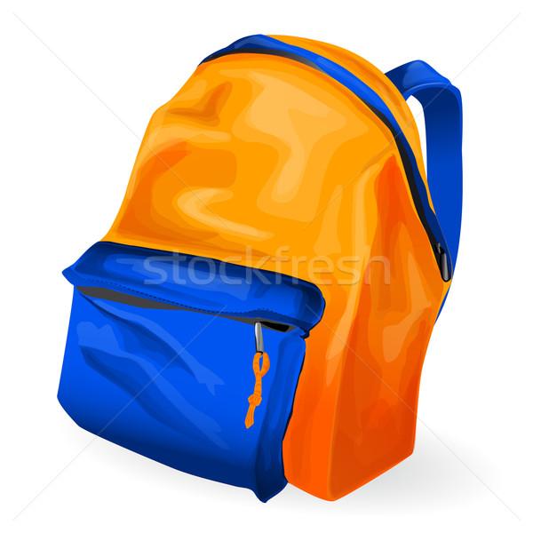 Illustration of school bag Stock photo © lindwa