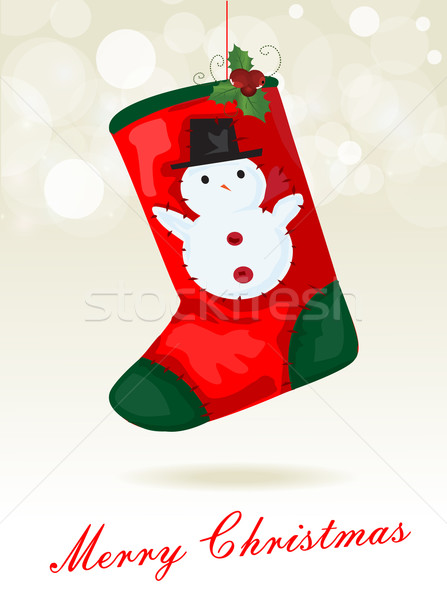 Christmas sock background Stock photo © lindwa